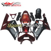 Red Black Carvões para Kawasaki ZX6R 636 2003 2004 03 04 Injeção de ABS Plastic Motorcycle Fairing Kit Cowlings Body Frames