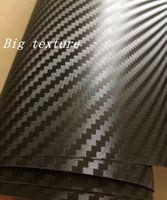 Wholesale Carbon Fibre Wrap Car - Big Texture 3D Carbon FIBRE VINYL WRAP STICKER Air BUBBLE FREE CAR BIKE   Air release Car   Boat   table Covering size 1.52x30m Roll 5x98ft