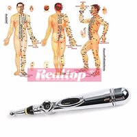 Wholesale Meridian Massage Therapy - Hot selling energy acupuncture pen electronic meridian acupuncture point detector therapy massage pen (No Cream & Battery)