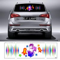 90 * 25cm Car Sticker Musica Rhythm Rose Belle LED Flash Light Sound attivato equalizzatore