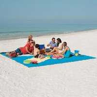 Wholesale Magic Mat Dhl - Sand Free Mats Sand Free Beach Mat Magic Beach Outdoor Pads Solid Colors Portable Beach Mattress For Sports Travelling Picnic Camping DHL