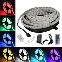 SMD 5050 Led Strips RGB Lights Kit Waterproof IP65 + 44 touches Télécommande + 12V 5A Alimentation avec EU / AU / US / UK Plug