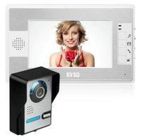 gegensprechanlagen großhandel-7 Zoll Regendicht Video Intercom Türklingel Video-türsprechanlage Audio Visual Entry Intercom System Monitor