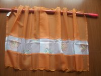 Wholesale Orange Embroidered Maple leaves Kitchen Bathroom Curtain Tire x160cm x62 quot