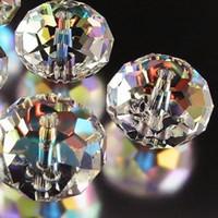 kristall edelstein lose perlen großhandel-1000PCS wholesale 4x6mm weiße AB Swarovski Kristall-Edelstein-lose weiße Korne bördeln n1