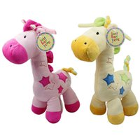 Wholesale Super Soft Giraffe - Wholesale- New 1pc Musical Baby Toy Super Soft Plush Baby Rattle Cute Giraffe Doll Early Educational