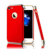Wholesale Removable Plates - 2017 New 3in1 Removable Plating Hard PC CellPhone Case for iPhone 7 6 6S Plus Ultra Thin Shockproof Armor Phone Cover