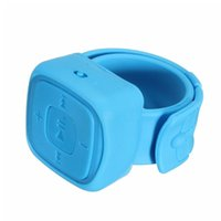 bilekli saat mp3 toptan satış-Toptan-Renkli Mini Spor MP3 Müzik Çalar Bilek İzle Mikro TF Kart Yuvası Ile Taşınabilir Su Geçirmez MP3 Çalar USB Flash Bulaşık