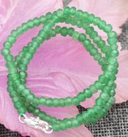 """Wholesale Emerald Abacus - New 2x4mm Faceted Myanmar Natural Emerald Abacus Gems Necklace 18"""" Silver clasp"""