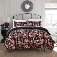 Wholesale Wholesale Twin Beds - 2017 New bedding set dovet set in 2 colors flower dovet cover and pillow cases free shipping