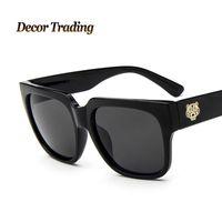Wholesale Mens Circle Sunglasses - Wholesale-2016 Fashion Retro Designer Vintage Round Circle Glasses Tiger LOGO Women Sunglasses Luxury Brand Mens Eyewear 9718
