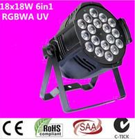 Wholesale Uv Led Par - dj lighting 18x18w rgbwa uv 6in1 led par light Aluminum alloy shell