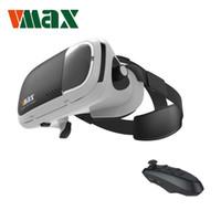 vr denetleyici toptan satış-Samsung S8 için Bluetooth Remote Controller ile Toptan-RITech VMAX Sanal Gerçeklik VR Gözlük 3D Kulaklık 4.7-6.0 için