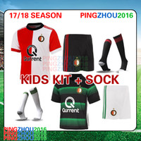 2017 2018 Feyenoord KIDS kit home red soccer jerseys children football shirts  17 18 Feyenoord boys set jerseys youth kits + socks free DHL 4ec631189