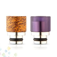 Wholesale Polished Amethyst - Jade SS Drip Tip Amethyst with Stainless Steel Wide Bore Hand-polished Mouthpiece Fit 510 Atomizer DHL Free