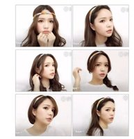 Wholesale Knitted Headbands Sports - Wholesale knitted Headband Under Non Slip Armour Style Sweaty Head Sports vintage elastic Thick Hair Bands