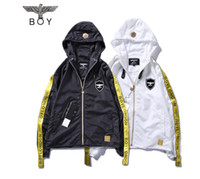 Wholesale London Clothing - 2017 newest summer brand BOY LONDON gold ribbon young men and women with the same sunscreen justin bieber casual clothes