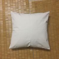 Wholesale Embroideries Cushion - 8 oz (220gsm) natural canvas pillow case 18x18 plain raw cotton embroidery blank pillow cover natural cushion cover