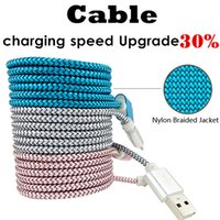 Wholesale Fastest Android Phone - Micro USB Cable 2A 1m Fast Charging Nylon USB Sync Data Mobile Phone Android Adapter Charger Cable for Smart Phone