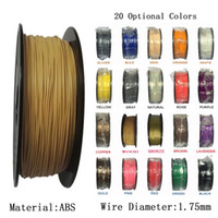 Wholesale 3D Printer Filament ABS mm KG Roll lbs D Printing Materials Plastic Rubber Consumables Material for printer