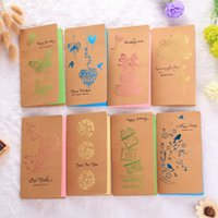 Wholesale butterfly design paper - Retro Greeting Card Hollow Out Carved Design Cards Business Festival Butterfly Rose Kraft Paper For Friends Universal 0 9jm B