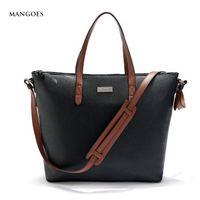 Wholesale Spain Leather - Wholesale-New 2016 Fashion Spain Mangoes Large shopping bag Women Totes Women shoulder bag Women Messenger Bags Leather handbag Wholesale