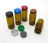 Wholesale Butyl Stopper - 500 X 10ml Amber glass headspace vials butyl stopper inject port with metal flip off caps