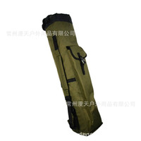 Wholesale large rods resale online - Fishing Bag Large Capacity Foldable Canvas Shoulder Package Hand Shoulder Bags Multi Function Outdoor Fish Rod Tools Storage Case mt F