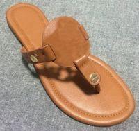 Wholesale Women Fashion Shoes Large Size - Platform Flip Flops Beach sheepskin Patent Leather Flats Summer Style Shoe Casual Flat Flip Flops Large size 34-42
