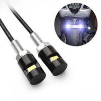 ersatz-rückleuchten großhandel-Kfz-Kennzeichenbeleuchtung 2 weiße LED Schraubenbolzen-Licht Ersatz der hinteren Sicherheits-Rücklichter für Auto-Motorrad-Auto
