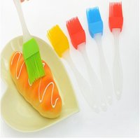 Wholesale Candy Colorful Silicone Bakeware Basting Brush Pastry Bbq Brush Oil Brush Cream Brushes Cake Utensil Bread Cooking