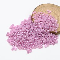 Wholesale 4mm Pearl Flatback - Flatback Half Pearl Beads Lt.purple Color Flat Back Round bead in size 4mm 6mm 8mm 10mm