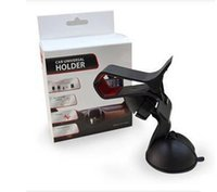 Wholesale Clipper Car Holder - Universal 360 degree Car Windshield Mount cell mobile phone Clipper Vehicle Swivel Mounts Holders Bracket stands For Iphone 6 6s 7 Samsung