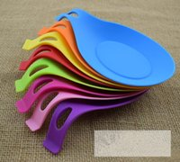 Silicone Spoon Insulation Mat Silicone Heat Resistant Placemat Bandeja Spoon Pad Drink Glass Coaster hot sale Kitchen Tool TOP1663