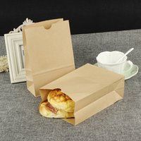 Stand-up Kraft Paper Food Borse da regalo Bottone quadrato Shopping Bag Borsa per il caffè Bread Snack Cookies Candy
