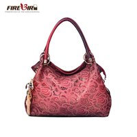 Wholesale Ornaments For Cell Phones - Wholesale- Top Brand female bag with ornaments delicate bag embossed PU leather red   gray   blue  Pink bag for women L222