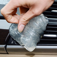 Wholesale Cars Interior Cleaner - Wholesale- Car Glue Gum Gel Air Conditioner Outlet Vent Interior Dust Dirt Cleaner ja10