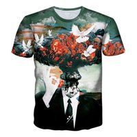Wholesale Silver Star Tees - Hip Hop T-shirt Men 3d t-shirt print stars thinker Anime cat short sleeve funny summer cool t shirt tops tees shirts