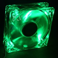 Wholesale 8025 GDT Green LED PC Computer Case Brushless Cooling Fan mm x25mm S DC V Pin Cooler