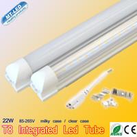 t8 führte leuchtstoffröhre 1,5m großhandel-LED T8 Tube 0.6m 0.9m 1.2m 1.5m 1.8m 2.4m SMD2835 Licht LED Beleuchtung fluoreszierend