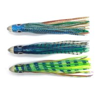 Wholesale Double Lure Skirts - 8.5inch 21.5cm Bullet Jet Hard Resin Head Double Octopus Skirt Lure Trolling Bait Fishing Lure