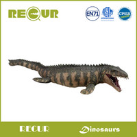 Wholesale Dinosaur Paint - toys hands Recur Original Design Classic Mosasaurus Model Delicate Hand Painted PVC Dinosaur Action Figure Soft Dinosaur Toys For Children