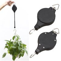 Wholesale Hanging Pulleys - Plant Pulley Retractable Pulley Plant Hanger Hanging Flower Basket Hook Hanger for Garden Baskets Pots and Birds Feeder