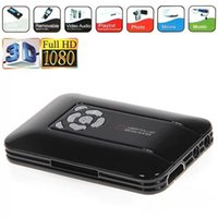 Venta al por mayor 1080P mini reproductor de DVD lleno del USB HDMI SD / MMC de Media Player 1080P-TVBOX TV con el envío libre teledirigido