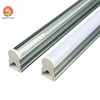 lámpara de pared led natural al por mayor-en stock T5 tubo de luz led integrado 2ft 12w 3ft 4ft 22w Tubos fluorescentes LedTUBES Lámparas de luz cálida naturaleza blanco frío AC85-265V Lámparas de pared