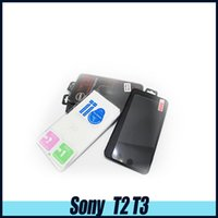 For Sony For Xperia Z Anti-Scratch SONY T2 T3 Top Quality Tempered Glass Screen Protector for SONY E4 C4 plus 0.26MM 2.5D with retail box