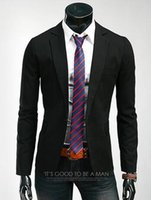 Wholesale Candy Colored Blazers - Wholesale- European and American men cultivating solid color blazer slim fit masculino candy-colored suit jacket male British temperament