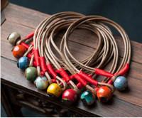 handgewebte perlen großhandel-Handgewebte Keramik Armband kleine Geschenke kleine runde Perle billigste Armbänder viele Farben können versandkostenfrei wählen