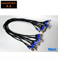 Wholesale Cable Signal Meters - TIPTOP Stage Light 10XLOT 1 meter long First Class DMX 512 Signal Cable with Blue White Color DMX 512 Connector Good Quality 3pin Aluminum