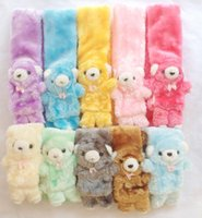 Wholesale Very Cute Boys - Wholesale- Baby Winter Scarf Bear Style Very Cute and Warm Muffler for Kids Boys Girls New Arrival Colorful Children Neck Warmer